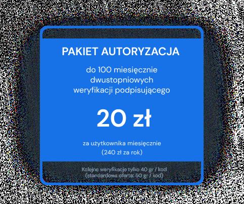 Pakiet Autoryzacja 100